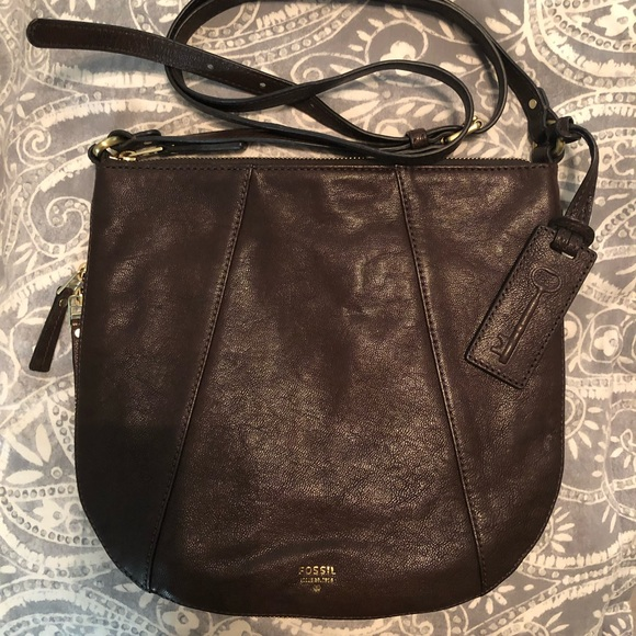 Fossil Handbags - Fossil Crossbody Leather Handbag